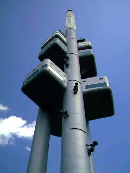 The sci-fi-like TV tower