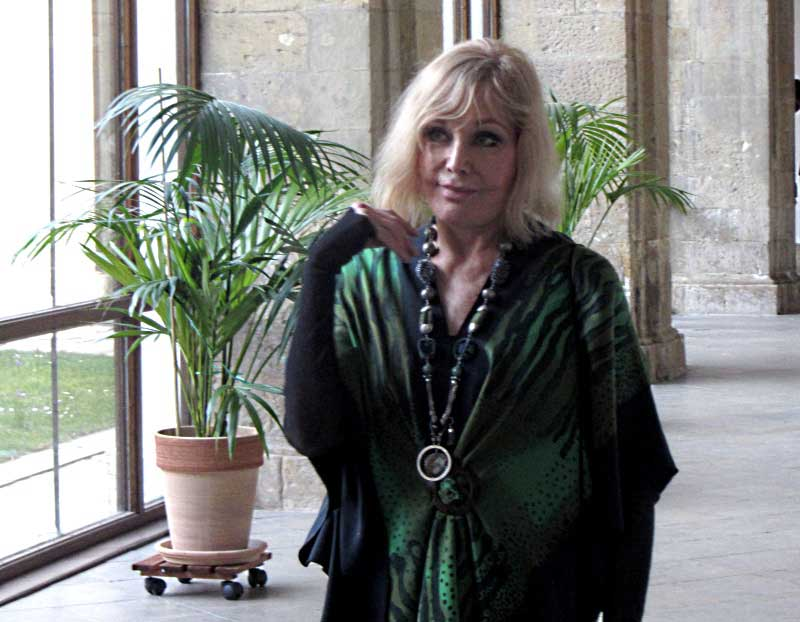 Kim Novak shows paintings at Strahov Monastery Gallery, Prague, Czech Republic