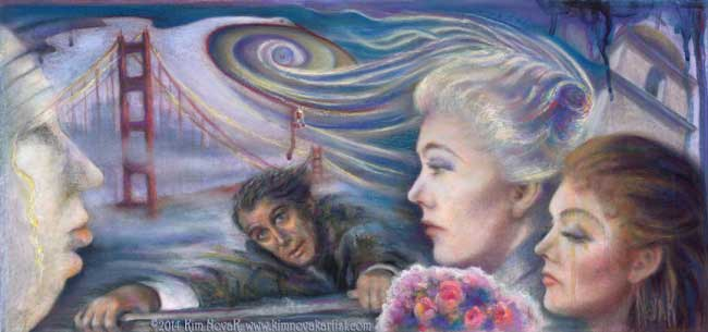 Kim Novak Vertigo painting