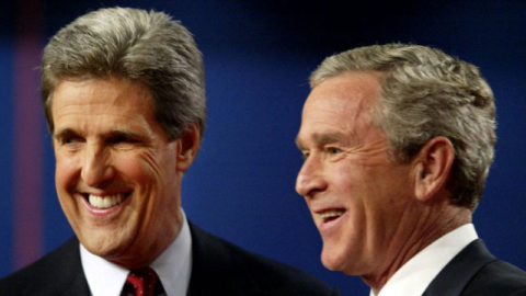 Kerry and Bush