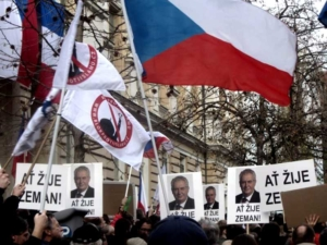anti-islam protest in Prague