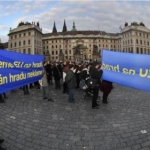 Prague protest Lisbon treaty