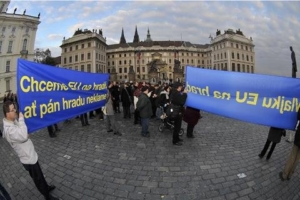 Prague protest Lisbon treaty