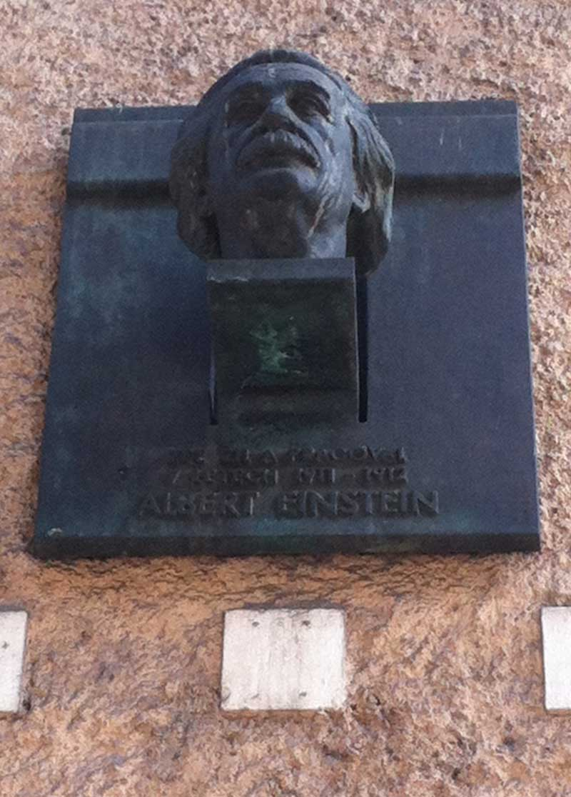 Albert Einstein bust Prague
