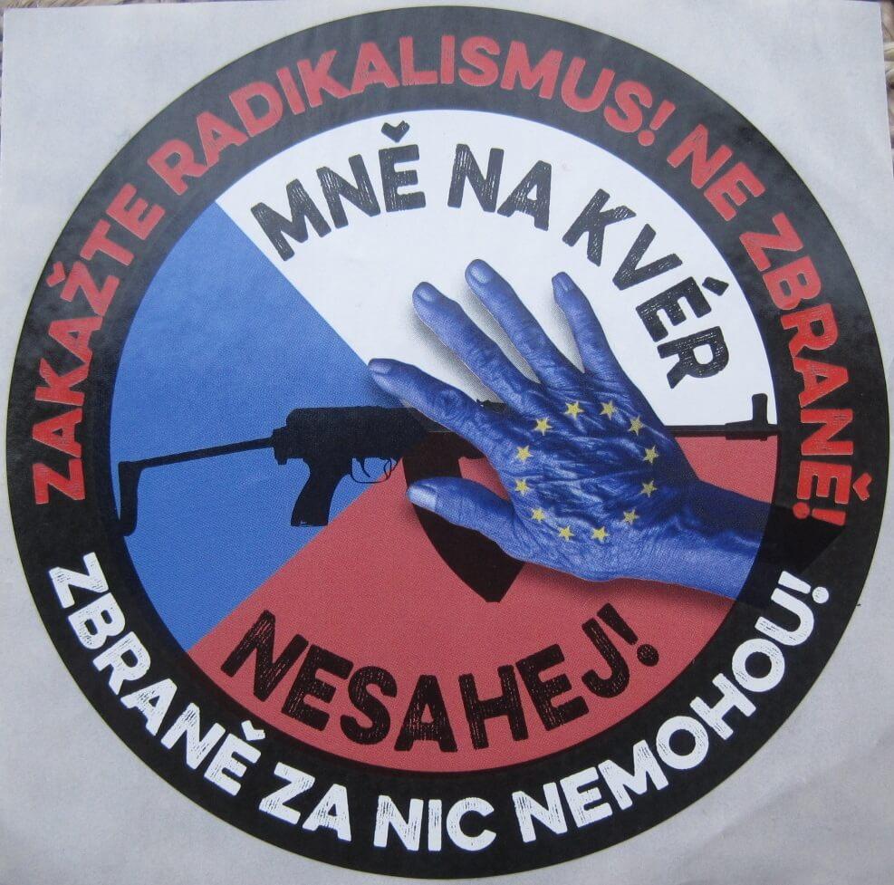 Pro-gun protest sticker