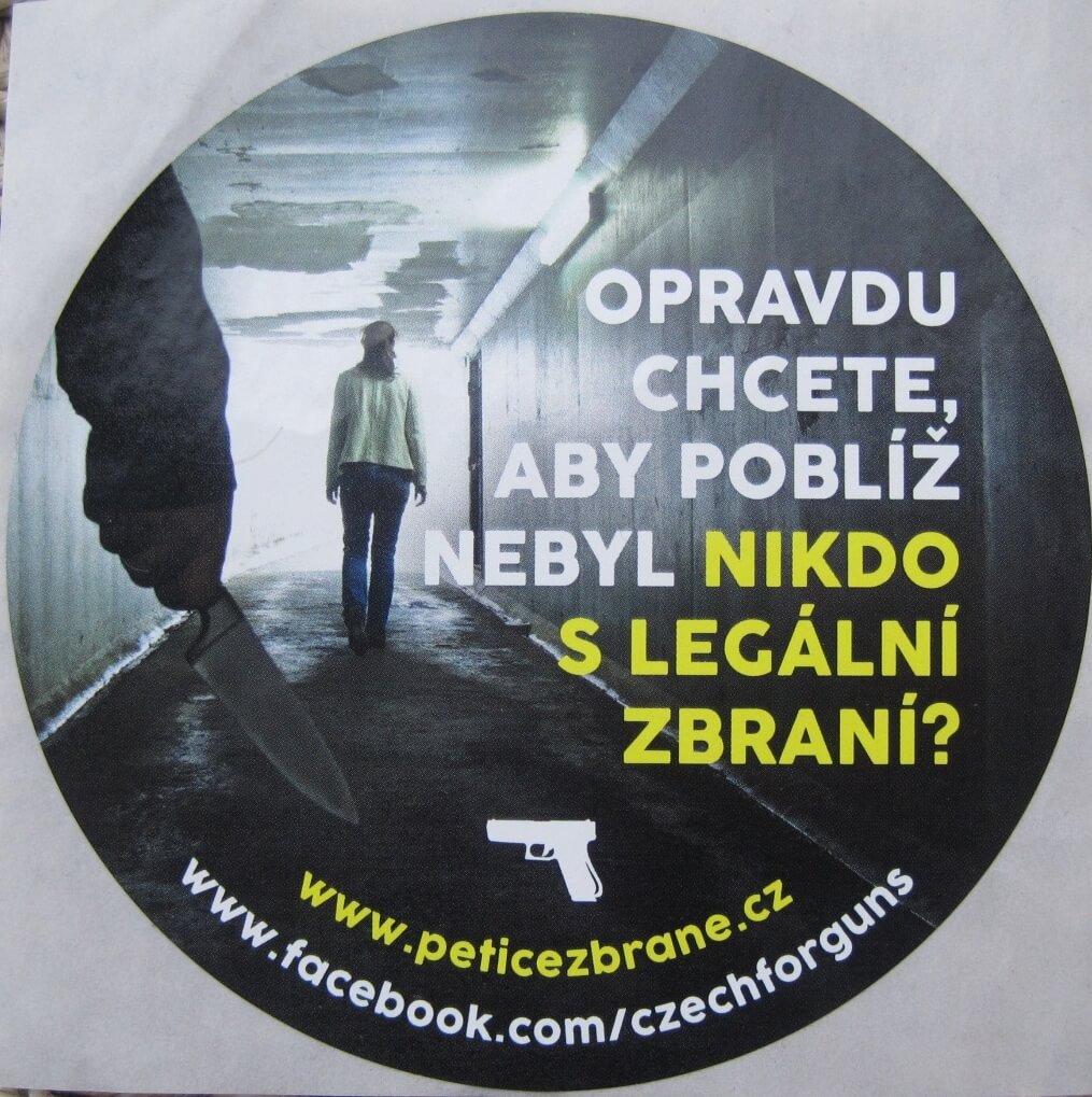 Pro-gun protest banner