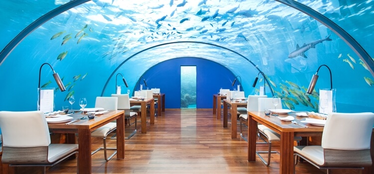 Ithaa restaurant Maldives underwater
