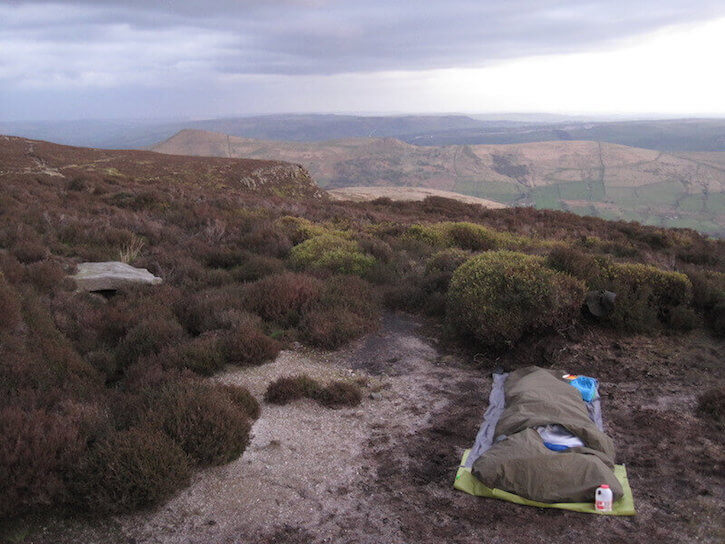 Kinder Scout plateau in England's Peak District