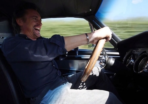 Richard Hammond behind wheels