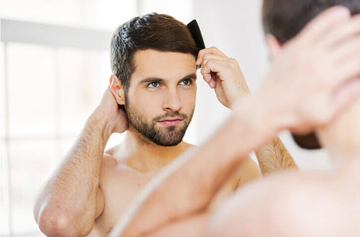 healthy hair men