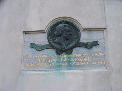 Mozart plaque Olomouc