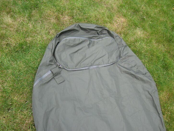 The arrangement at the head end sets the Highlander Hawk apart from other bivy bags.