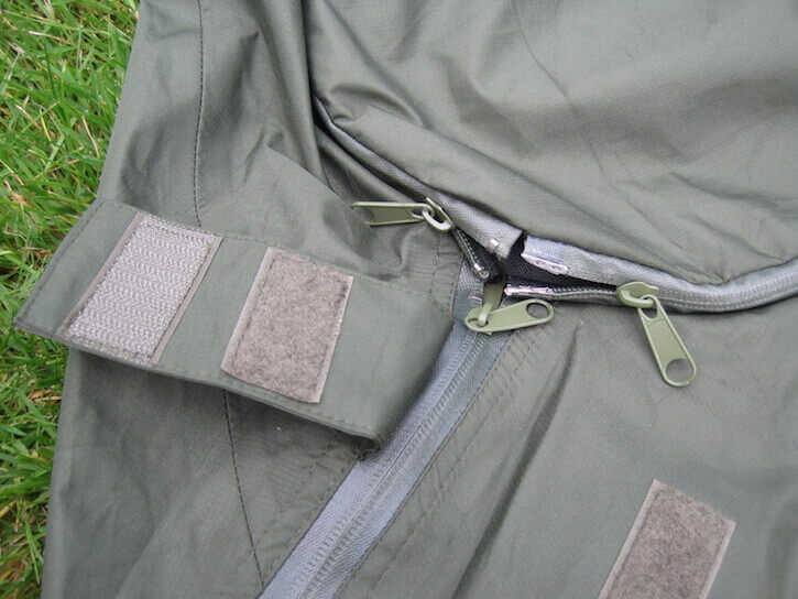 There are multiple zips, which can prove a big fiddly when inside the bag at night.