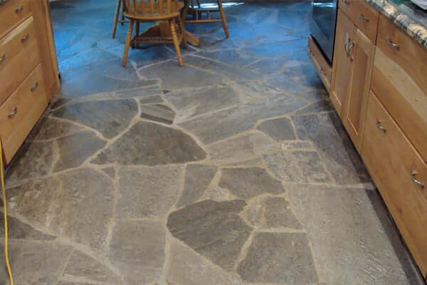 cobblestone kitchen floor unique flooring types for kitchens prague post 2293