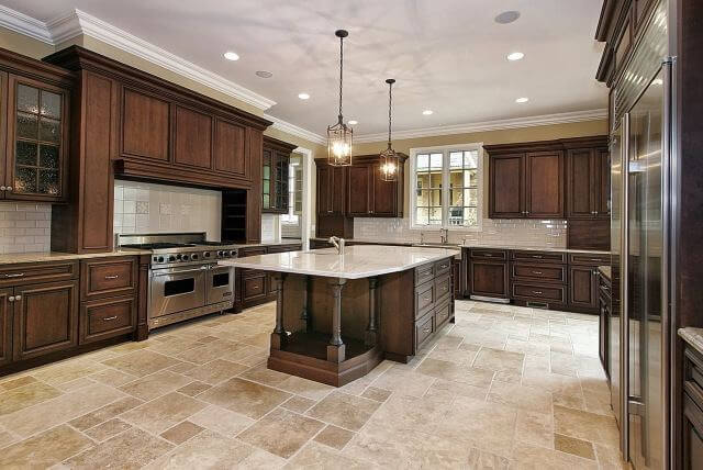 tile flooring kitchen
