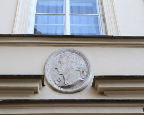 Medallion bust of Mozart