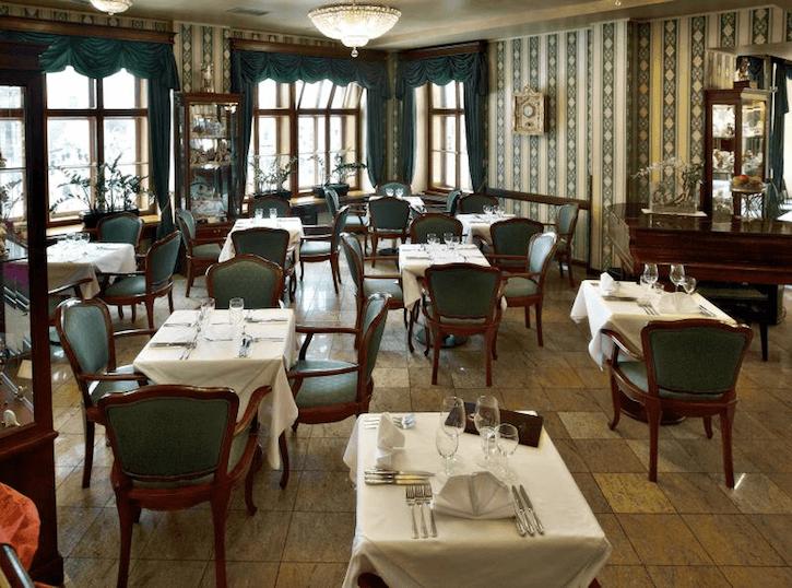View of Café Mozart interior