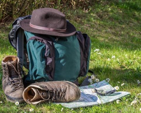 hiking camping