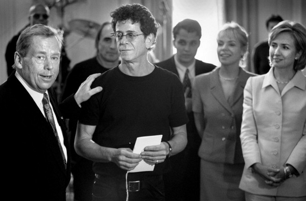 Lou Reed and Vaclav Havel