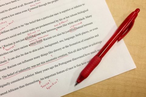 editing paper essay