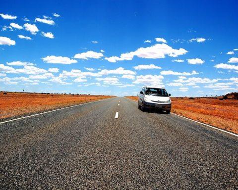car on road australia