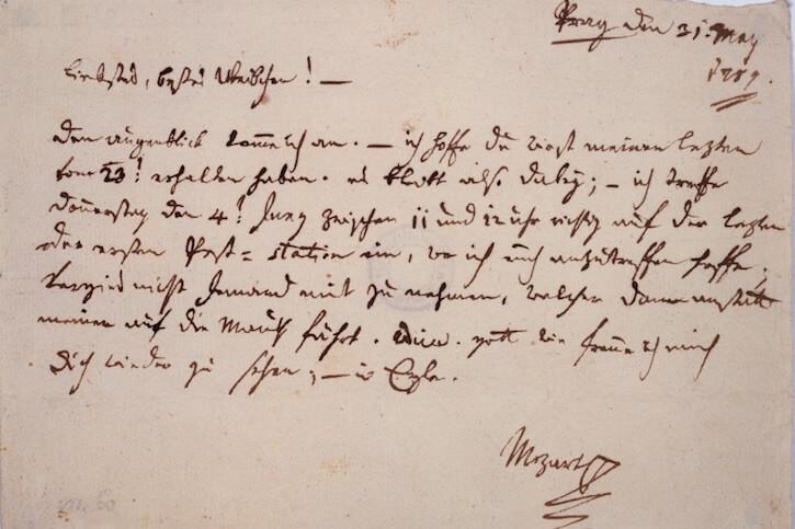 Mozart letter