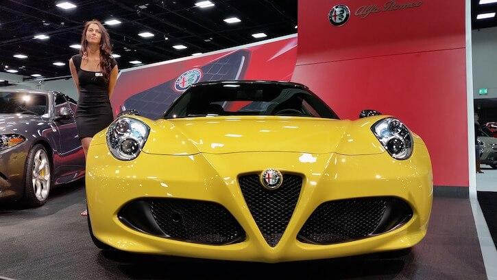 alfa-romeo roadster car