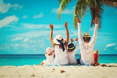 summer family vacation beach