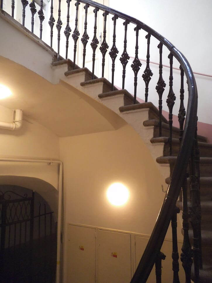The House of the Three Golden Lions stairs